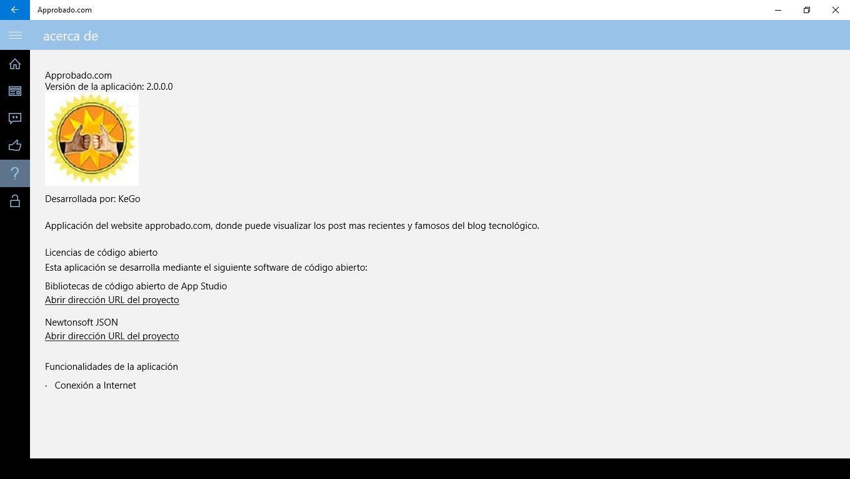 Approbado Info Screen