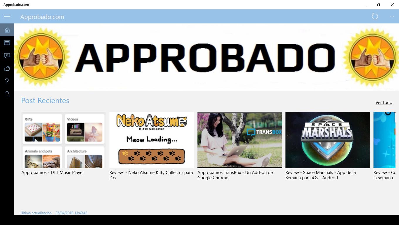 Approbado Main Screen
