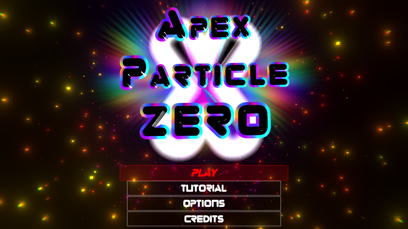 Apex Particle Zero Main Screen