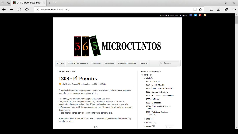 365Microcuentos Website Landing